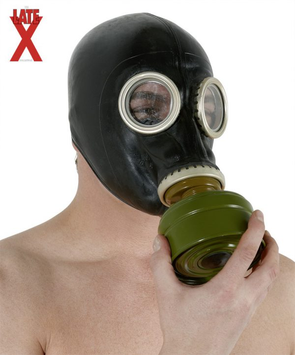 maschera antigas in lattice con filtro latex gas mask