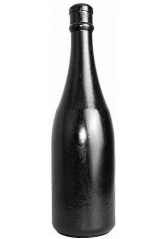 PLUG ANALE ALL BLACK IN PVC - ANAL BOTTLE - 34,5 CM
